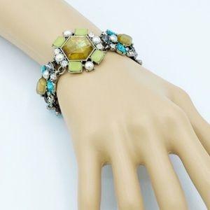 Chloe + Isabel Green/Blue Statement Bracelet